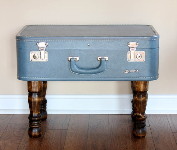 Items Similar To Vintage Suitcase Trunk Coffee Table On Etsy