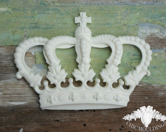 Princess Crown Furniture Appliques Shabby Chic Mouldings Onlay Trim