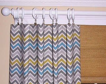 Curtains Ideas chevron curtains grey : Yellow chevron curtains – Etsy
