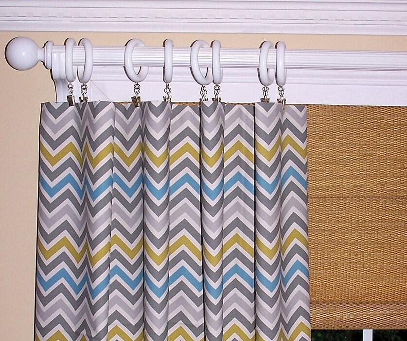 yellow chevron curtains handmade hand sewn by