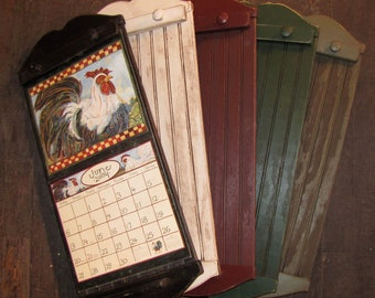 Rustic Style Calendar Holder - Color Choice