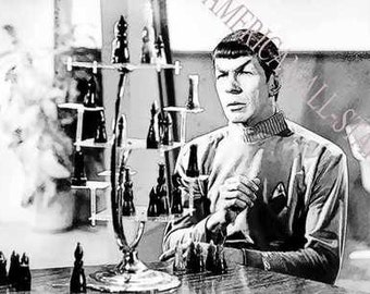 Rare Mr. Spock Star Trek Lmt Ed Art 12 x 18 LE of 50