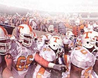 University of Tennessee Vols Football Art