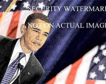 New President Barack Obama USA Art Print only 50 avai