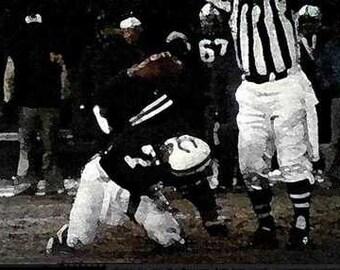 Rare Baltimore Colts Bert Jones Litho Print