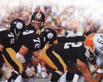 Pittsburgh Steelers Terry Bradshaw Rare Art 12 x 18
