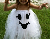 Too Cute To Spook Tutu ghost Halloween Costume size 4-6T