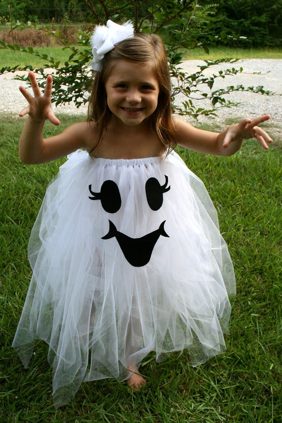 Too cute to spook tutu ghost halloween costume by toocutebykelly