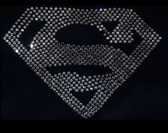 Superman Iron On Rhinestone Transfer