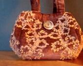 Reserved for sparble Petite antique velvet handbag