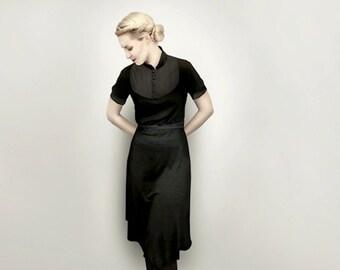 M.I.R.A black jersey dress