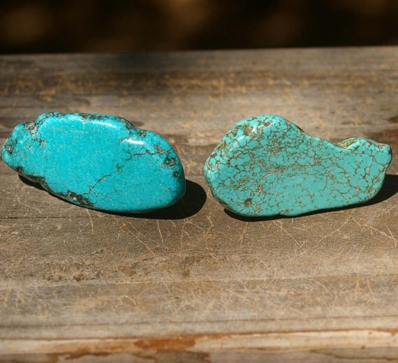 On sale stone cabinet knobs turquoise set of 2 stone for Turquoise cabinet pulls