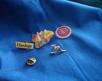 Four (4) Lapel, Tack, Scatter, Hat, Cap or Decorative Pins