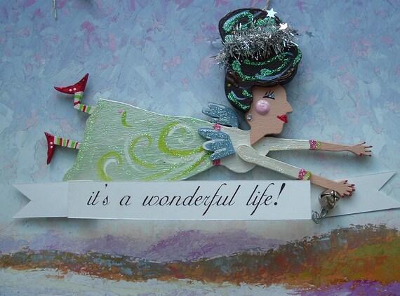 It's a wonderful life Angel Ornament