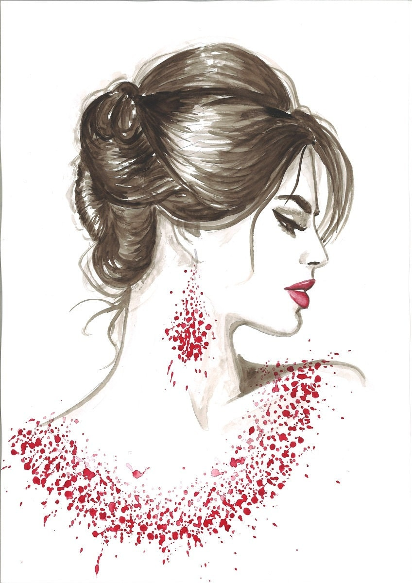 Print from Original Watercolor Fashion Illustration by ...