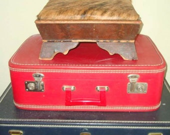 Vintage Cowhide Victorian or Western Stool or Bench RARE