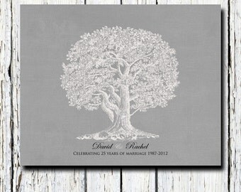 25th Silver Wedding Anniversary Tree Gift Anniversary gift