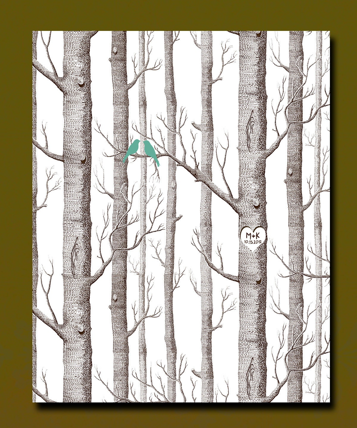 1st Anniversary Paper Gifts: Custom 1st Paper Anniversary Gift Forest Of By WordsWorkPrints