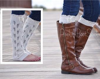 Off White Lilly Boot Sock Leg Warmer-Women's Size