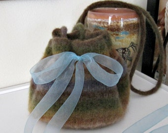 Small felted purse