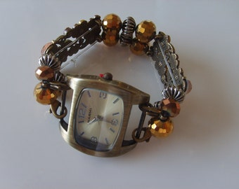 Double Stranded Brown Fancy Watch Band Set 76