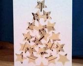 Music Stars Handmade Christmas Card