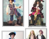 """PIRATE"""" Pattern Tonner Matt, Trent a full Pirate outfit including Hat and Boots"""