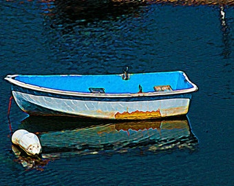 """Fine Art Photograph - """"Blue"""" with oil painting effects"""