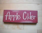 Primitive Fall Sign,Apple Cider - PEIprims