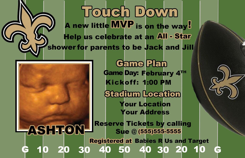 ... Football Jersey Baby Shower Invitation ...