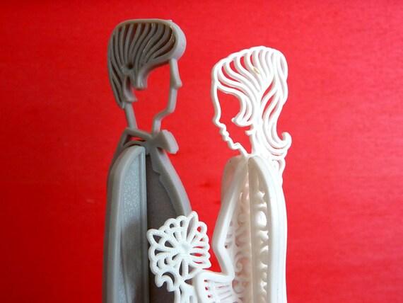 Vintage wedding cake topper. Wedding Retro Figurine. 1960.