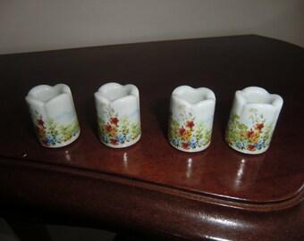 porcelain , hand painted, german little candle sticks,