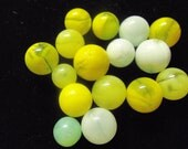 TPM0110 Akro Agate Lemonades and Limeades 1920's and 1930's Peewee's.