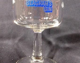 Vintage Seagram's Stem Gin Glass