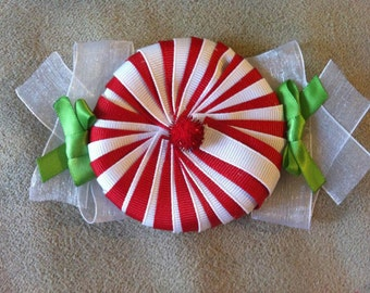 Peppermint christmas boutique bow