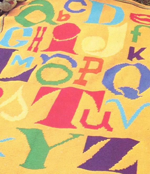 ABC Alphabet Crochet Blanket Pattern