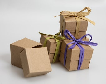 Recycled Kraft wedding gift box favours   (pack of 50)