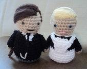 Bates and Anna Crocheted Amigurumi Dolls