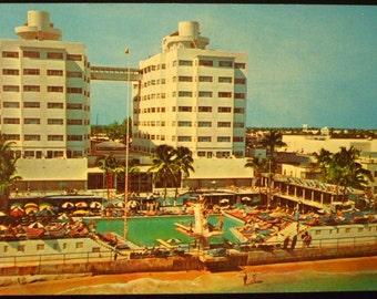 Vintage 1968 Postcard Miami Beach Florida Sherry Frontenac Hotel