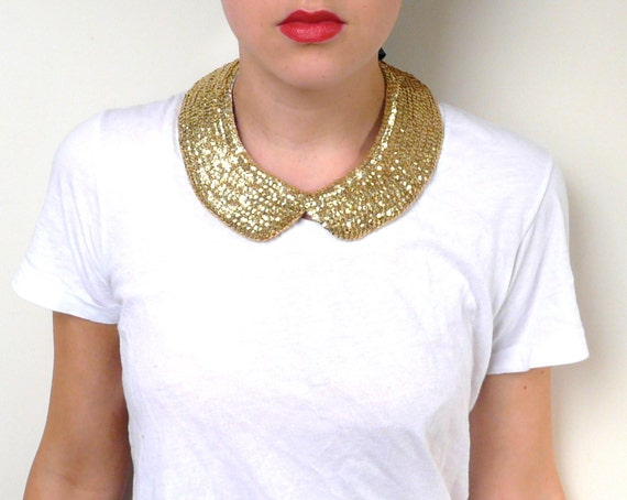 Gold Sequin Collar