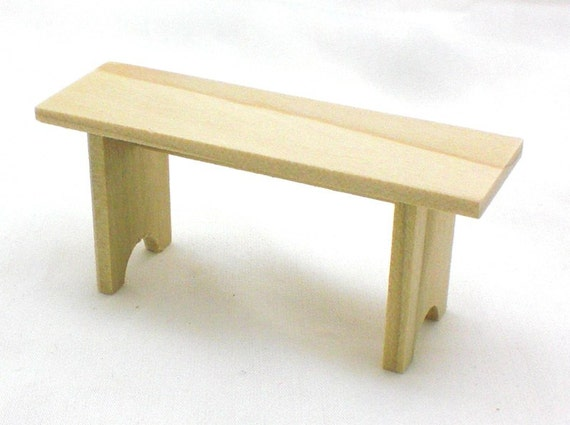 Dollhouse Furniture Poplar Bench or Pew