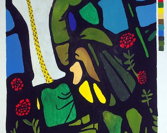 Stained glass colour study