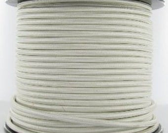 Premium Rayon Cloth Covered Pendant Cord Electrical Wire, 18-Gauge, 3-Conductor, Round Pulley Style [Price is per ft. Sold by the ft.]