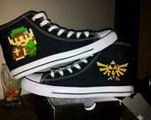 8-bit Legend of Zelda / Link Custom Converse