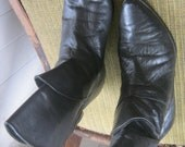 Black Flower Petal Boots, size 7.5-- ON HOLD