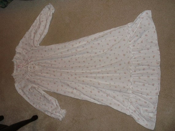 Vintage Me & Mine Victorian Style Maternity/Nursing Gown Nightgown Small