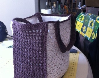Lined Crocheted Market Bag