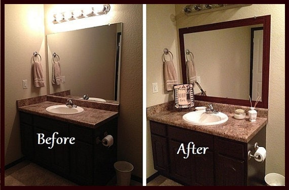 Stick On Frame Adhesive Frame For Bathroom Mirrors By