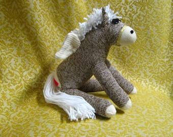Sock Monkey Pegasus Pony Horse Stuffed Animal Toy Doll Rockford Red Heel Socks