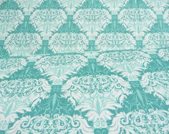 Khristan Howell Aqua/Turquoise and White Floral Print